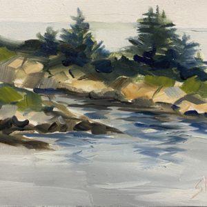 Sandra Kavanaugh Dragon's Gorge oil 5x7 150