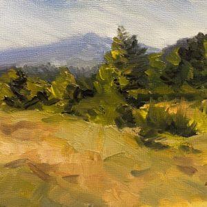 Sandra Kavanaugh Mountain Song oil 5x7 150