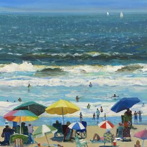 Ceila Judge Big and Small Umbrellas acrylic 18x18 1500