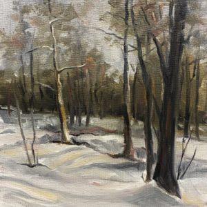 Sandra Kavanaugh Zorn Scene oil 5x7 125
