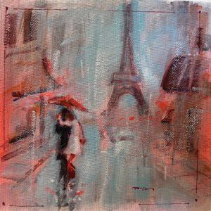 Patrick McCay Paris In The Rain 7 oil 6x6 95