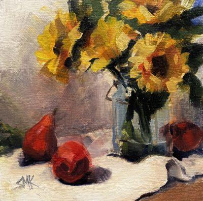 Sandra Kavanaugh Sunny Days oil 6x6 150