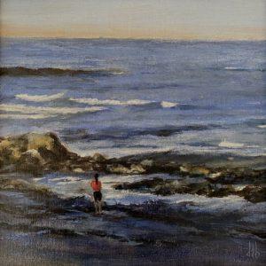 Doreen Boissonneault Red Sweatshirt oil 9x9 500