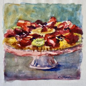 Catherine Tuttle You Are My Fruit Tart watercolor 6.5x6.5 150