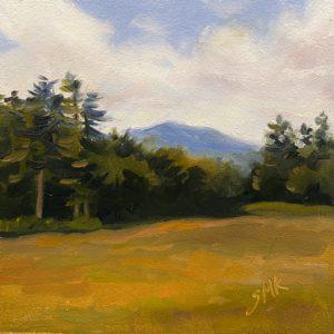 Sandra Kavanaugh Mt Ascutney oil 6x6 125