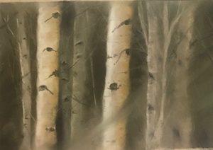 Josee Severino Whispering Woods pastel 12x35 1400