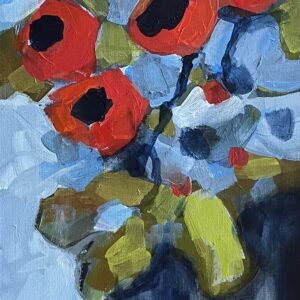 Dana Boucher Pop of Poppies acrylic 12x36 1200