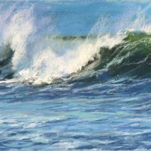 Sandra Kavanaugh Incoming Surf Pastel 12x24 800