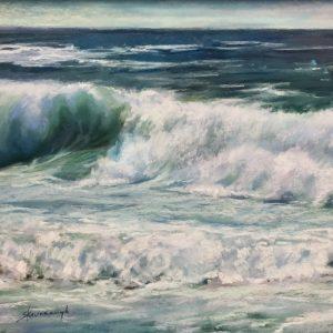 Sandra Kavanaugh Cerulean Sea pastel 16x20 950