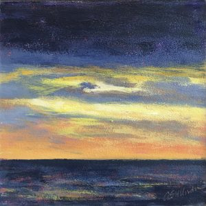 Amy Sullivan Cape Sunset Acrylic 6x6 195