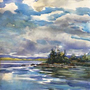 Becky Darling Umbagog Sky Watercolor 14x20 525