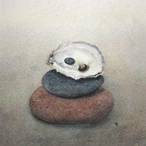 Darlene Robyn On the Half Shell Watercolor 9x7 400