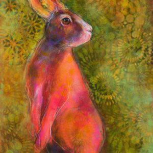 Rosemary Conroy Queen of Hares Acrylic 35x23 1848