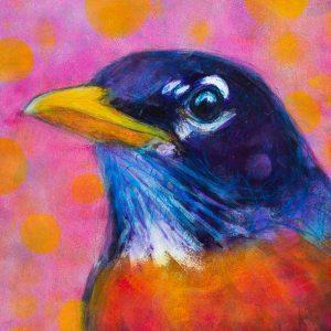 Rosemary Conroy Rocking Robin Acrylic 24x18 1498