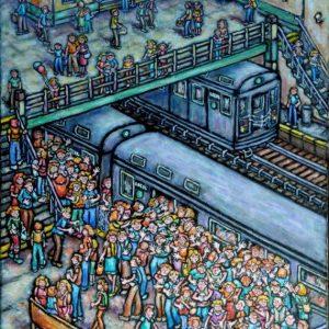 Sally Newman Subway Station Acrylic 24x18 550