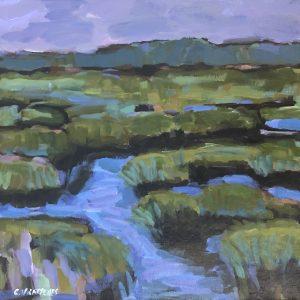 Cheryl Vratsenes Afternoon Marsh II Acrylic 12x12 495