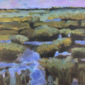 Cheryl Vratsenes Afternoon Marsh Acrylic 16x16 800