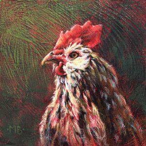 Marcia Blakeman Watchful Eye Acrylic 6x6 225