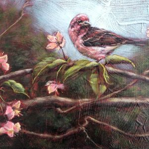 Marcia Blakeman New Hampshire's Bird Acrylic 10x20 600