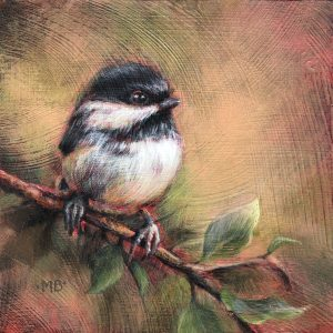 Marcia Blakeman Chickadee-dee-dee Acrylic 6x6 225