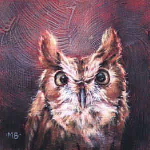 Marcia Blakeman Larry Acrylic 6x6 225