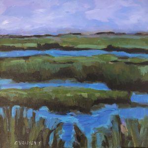 Cheryl Vratsenes Afternoon Marsh I Acrylic 12x12 495